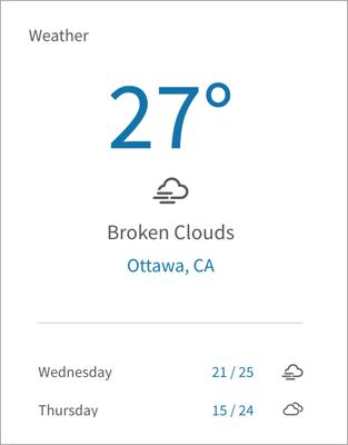 The Weather widget