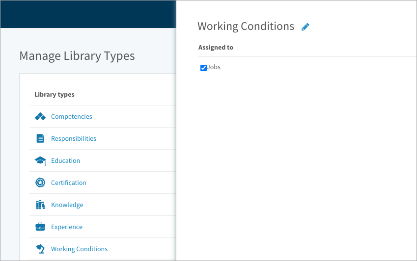 Assigning a library type to Jobs