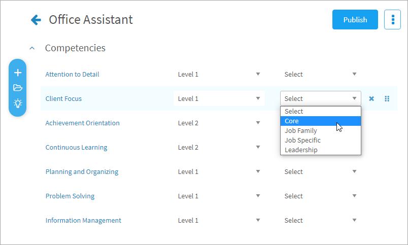 Adding competencies to a job