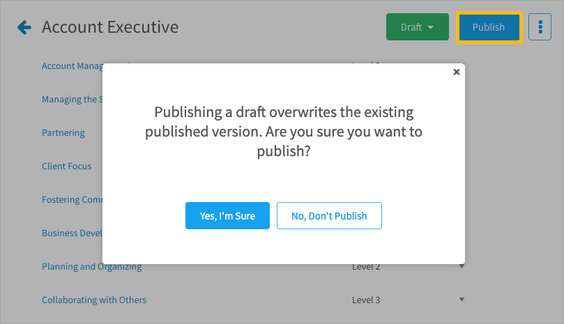 Publishing a draft copy