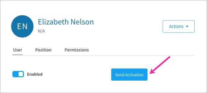 Sending an activation link