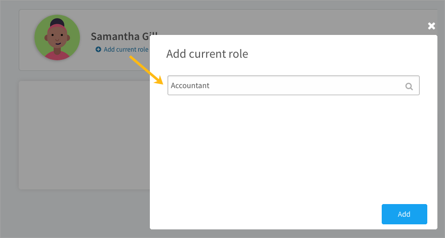 Adding your current role