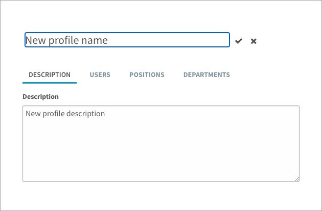 Creating a new security profile
